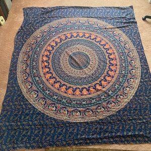 Huge Blue Tapestry - NWOT